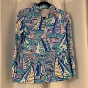 Lilly Pulitzer Aboat Time Popover XS EUC